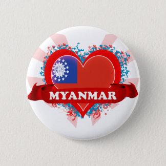 Vintage I Love Myanmar 2 Inch Round Button