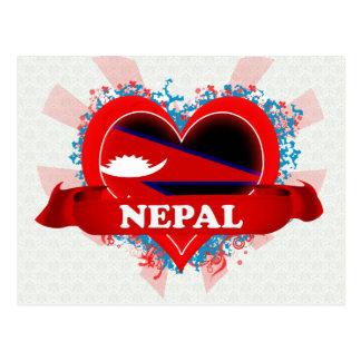 Vintage I Love Nepal Postcard