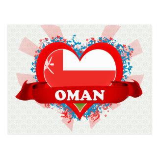 Vintage I Love Oman Postcard