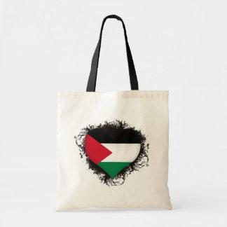 Vintage I Love Palestine Tote Bag