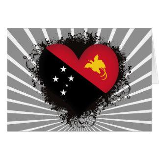 Vintage I Love Papua New Guinea Card