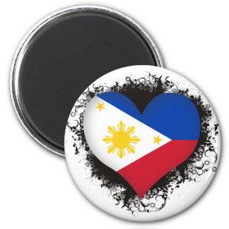 Vintage I Love Philippines 2 Inch Round Magnet