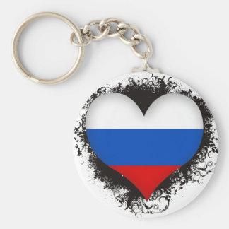 Vintage I Love Russia Keychain