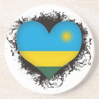 Vintage I Love Rwanda Coaster