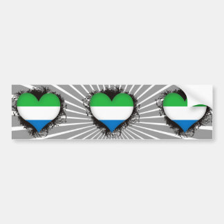 Vintage I Love Sierra Leone Bumper Sticker