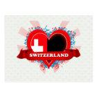 Vintage I Love Switzerland Postcard