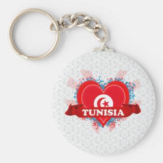 Vintage I Love Tunisia Keychain