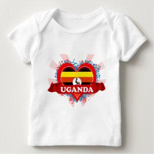 Vintage I Love Uganda Baby T-Shirt