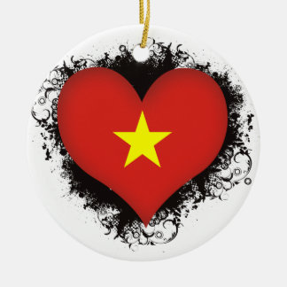Vintage I Love Vietnam Ceramic Ornament