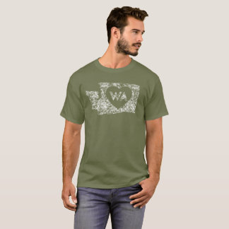 Vintage I Love Washington State Men's Dark T-Shirt