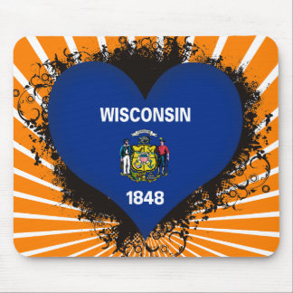 Vintage I Love Wisconsin Mouse Pads