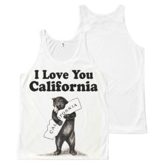 Vintage I Love You California All-Over-Print Tank Top