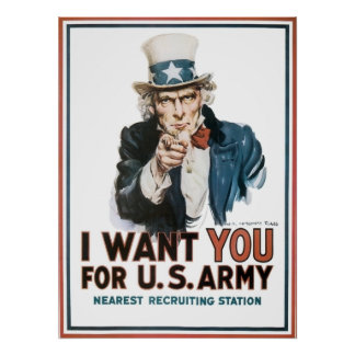 Vintage I Want You Army Poster