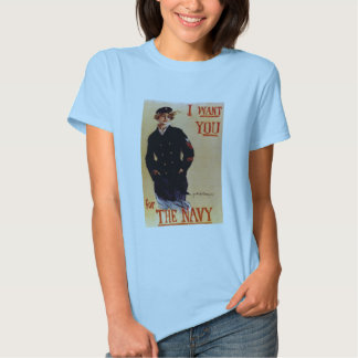 Vintage I Want You Navy Shirt