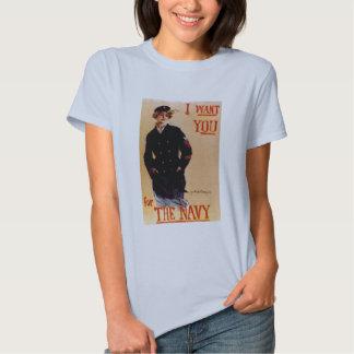 Vintage I Want You Navy Shirt