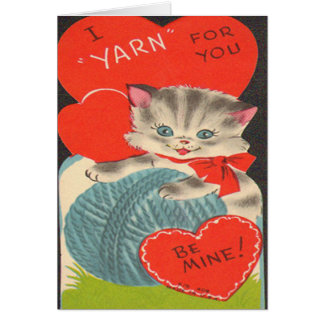 """Vintage I """"Yarn"""" for You Valentine's Day Card"""