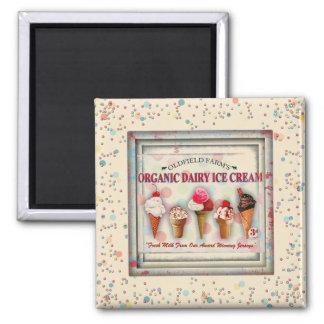 Vintage ice cream parlour sign magnet