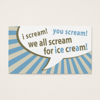 vintage ice cream punch card