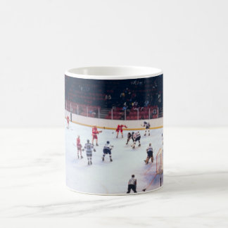 Vintage Ice Hockey Match Basic White Mug