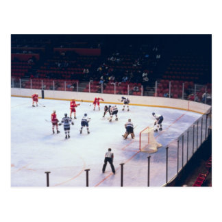 Vintage Ice Hockey Match Postcard