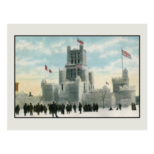 Vintage ice palace Montreal Canada Postcard
