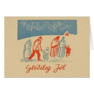 Vintage Icelandic Christmas Greeting Card