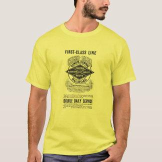 Vintage Illinois Central RR Men's Basic T-Shirt
