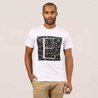 Vintage Illuminated Letter E T-Shirt 2