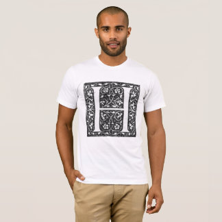 Vintage Illuminated Letter H T-Shirt