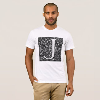 Vintage Illuminated Letter J T-Shirt