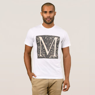 Vintage Illuminated Letter M T-Shirt 2