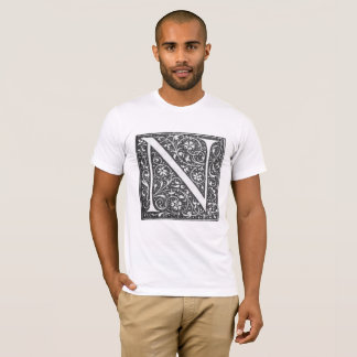 Vintage Illuminated Letter N T-Shirt
