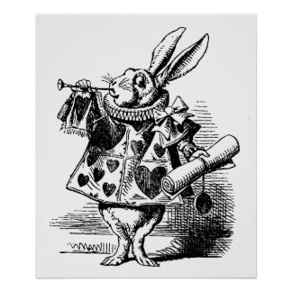 Vintage illustration Alice in Wonderland Poster