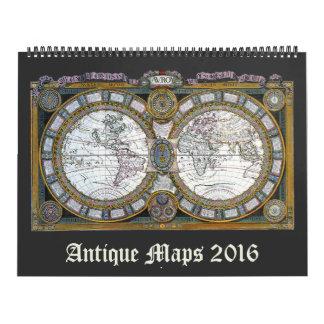 Vintage Illustration Antique World Maps Calendar