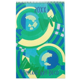 Vintage Illustration Art Deco Pochoir Patterns Wall Calendar