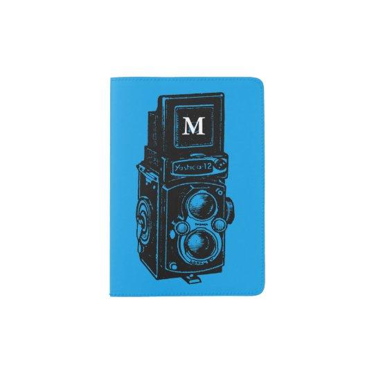 Vintage Illustration Camera 1 Monogram passport Passport Holder