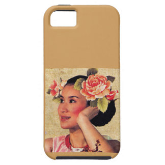 Vintage Illustration Chinese Woman iPhone 5 Cases