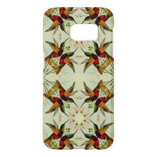 Vintage Illustration Hummingbirds and Flowers Samsung Galaxy S7 Case