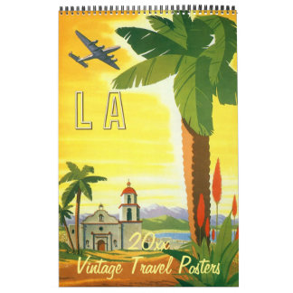Vintage Illustration International Travel Posters Calendars