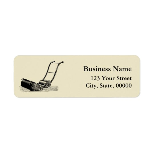 VINTAGE ILLUSTRATION Lawn Mower Address Labels