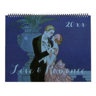 Vintage Illustration Love and Romance Wall Calendar