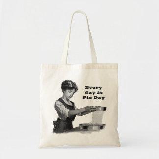 Vintage illustration of a lady baking