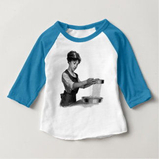 Vintage illustration of a lady baking baby T-Shirt