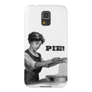 Vintage illustration of a lady baking galaxy s5 cover