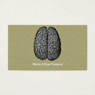 Vintage Illustration of Human Brain Business Card