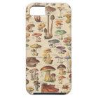 Vintage illustration of mushrooms iPhone 5 case