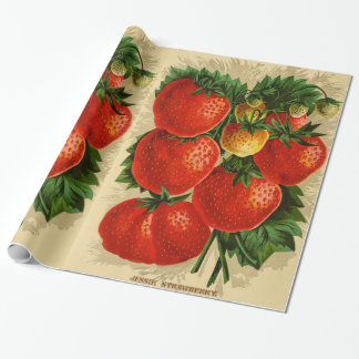 Vintage Illustration of the Jessie Strawberry Wrapping Paper