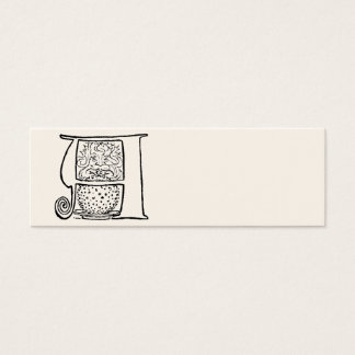 Vintage Illustration of the Letter A Mini Business Card