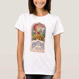 Vintage Illustration of Winged Cherub T-Shirt