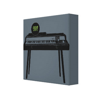 Vintage Illustration Organ Monogram Canvas